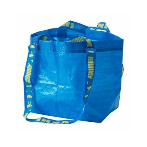 IKEA BRATTBY Kleine blaue Einkaufstaschen