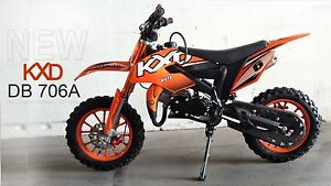 Dirt-Bike-Pocket-Cross-KXD-706-A-10-Zoll-Raeder-orange