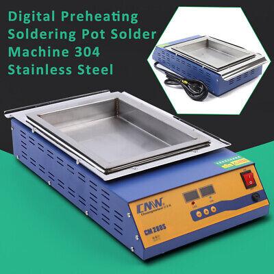 500W Lead-free Solder Pot Soldering Desoldering Bath Titanium Plate 0℃-400℃ Pot