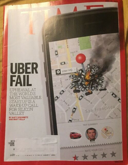 Time Magazine - June 26, 2017 Uber Fail