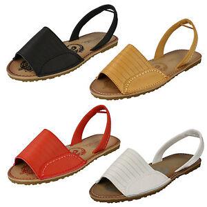 SOLDE-femmes-BAMBOO-PLAT-bout-ouvert-a-elastique-a-enfiler-Sandales-Mules-Ete