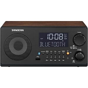 Sangean-AM-FM-RDS-Bluetooth-Wireless-USB-Didgital-Tuning-Receiver-Walnut-WR-22WL