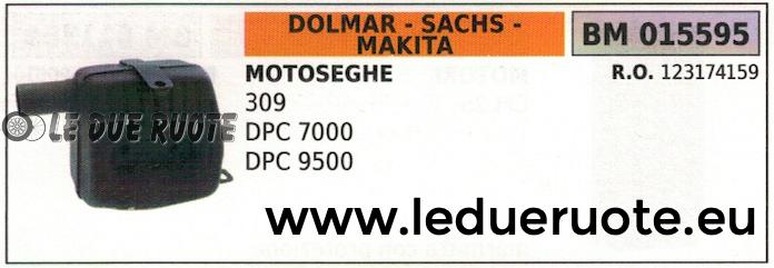 123174159 SILENZIATORE MARMITTA MOTOSEGA DOLMAR SACHS MAKITA 309 DPC 7000 9500