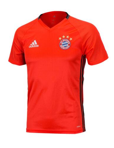Adidas 16-17 FC BAYERN MUNCHEN Training S//S Jersey AO0307 Soccer Football Top