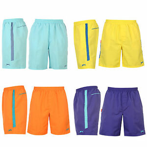 Slazenger-Hose-Shorts-Bermuda-Badeshorts-Sporthose-kurz-Gelb-Orange-Blau-Lila