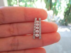 .58 Carat Diamond White Gold Pendant 14k P54 sep