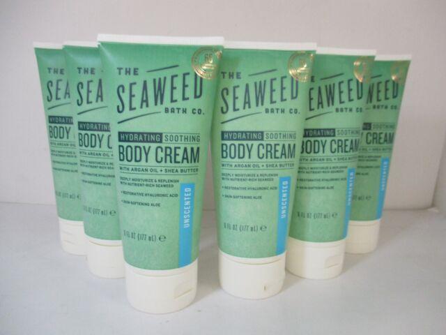 6 THE SEAWEED BATH CO UNSCENTED HYDRATING BODY CREAM 6 oz EACH JL 11509