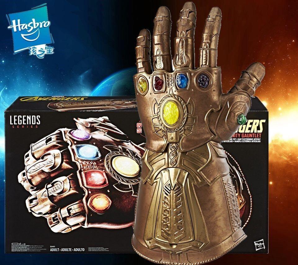 Hasbro Marvel Legends Infinity Gauntlet electrónica Thanos LED en caja de guante de puño