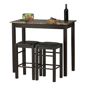 bar height dining set table stools pub chair counter kitchen breakfast