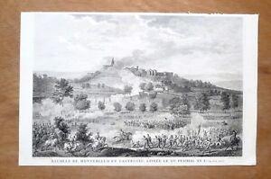 Eau-forte-Duplessis-Bertaux-d-apres-Vernet-Bataille-de-Tagliamento-XIXe