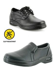 New-Mens-Non-slip-Chef-Shoes-Kitchen-Oil-resistant-Waterproof-Work-Leather-Boots
