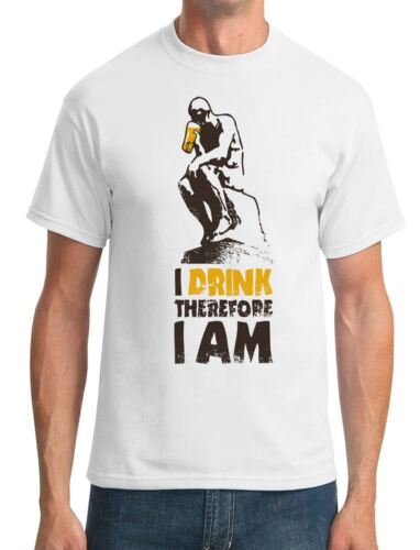 Funny Mens T-Shirt I Drink Therefore I Am