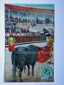 MALAGA-corrida-de-toros-bullfight-Perranito-SPAIN-ESPANA-old-postcard