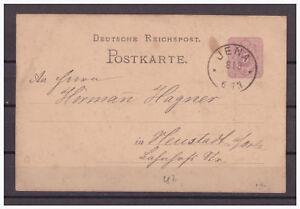 Empire-Allemand-Entier-Postal-P-10-Jena-apres-Neustadt-A-le-Orla-08-08-1883