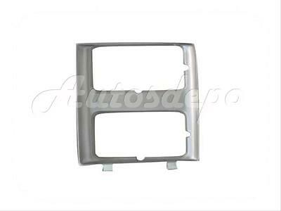 New Dual Rectangular Headlight Door Bezel Silver Rh For 85-88 C10-30 Pickup
