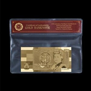 WR-Old-Great-Britain-1-One-Pound-Note-24K-Gold-Foil-Rare-English-Banknote-COA