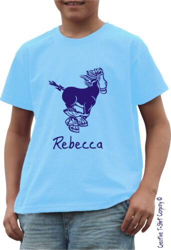 Equestrian Gift Stables Horse Riding Personalised Pony Cute T-Shirt  AGE 5-6