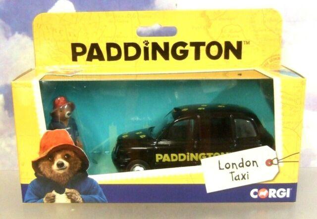 Estupendo Corgi Classics 1/36 Londres Taxi Negro y Oso Paddington Figura CC85925