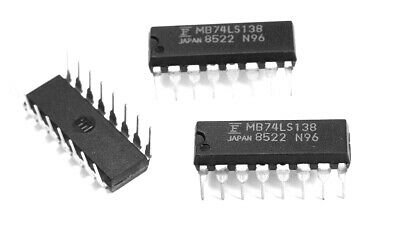 6pcs 74LS138 74LS138N IC 3-to-8 Line Decoder//Demultiplexer DIP-16