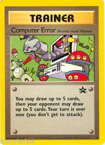 Englisch Pokemon Trainer Computer Error Black Star Promo # 16 NM