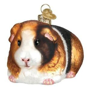 Old-World-Christmas-GUINEA-PIG-12542-N-Glass-Ornament-w-OWC-Box