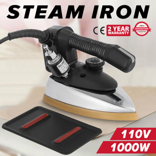 Industrial Gravity Feed Steam Iron Flexible Move Wear Resistant Compact
