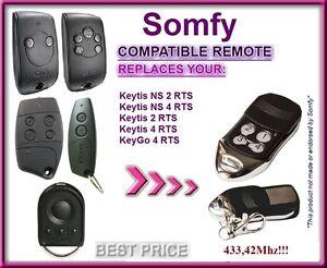 SOMFY-Keytis-NS-2-RTS-Somfy-Keytis-4-NS-RTS-compatible-telecommande-433-42Mhz