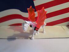 LEGO SKELETON/SKELETAL HORSE WHITE/TRANS ORANGE WINGS HP/CASTLE,HALLOWEEN