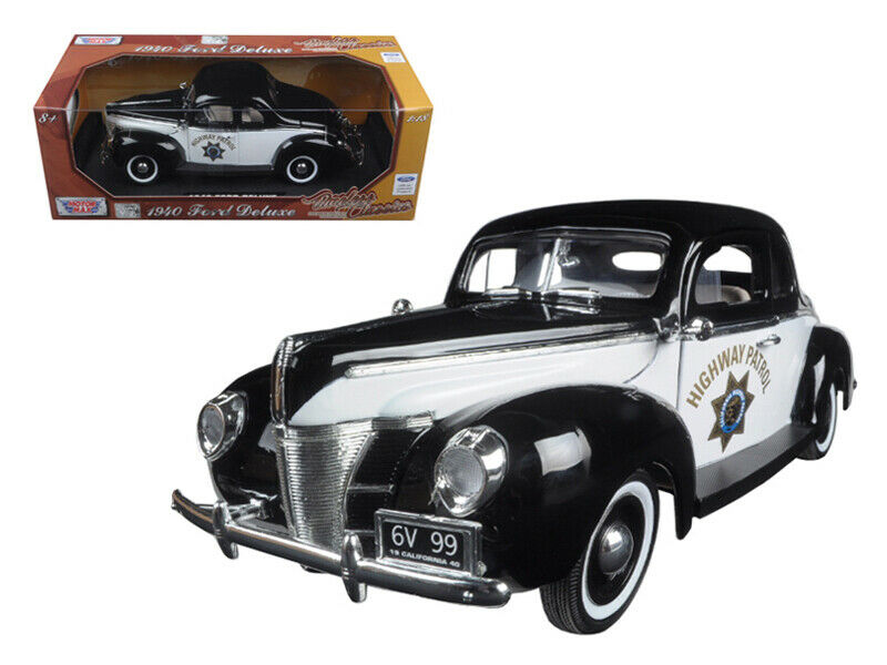 1940 Coupé Ford Deluxe California Highway Patrol CHP  Timeless Classics  1 18 Di