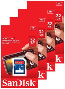 Lot-4-x-SanDisk-32GB-SDHC-Class-4-SD-Flash-Memory-Card-Camera-SDSDB-032G-128GB