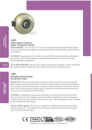 100mm 255m3//h TURBO Rohrventilator Rohrlüfter Radiallüfter Metall Abluft  Axial