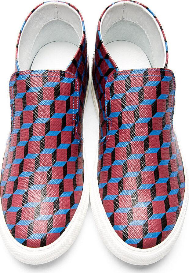 468 Pierre Hardy Rojo Cubo impresión Slip-on Zapatillas Kenzo Dsquarojo 39 Zapatos