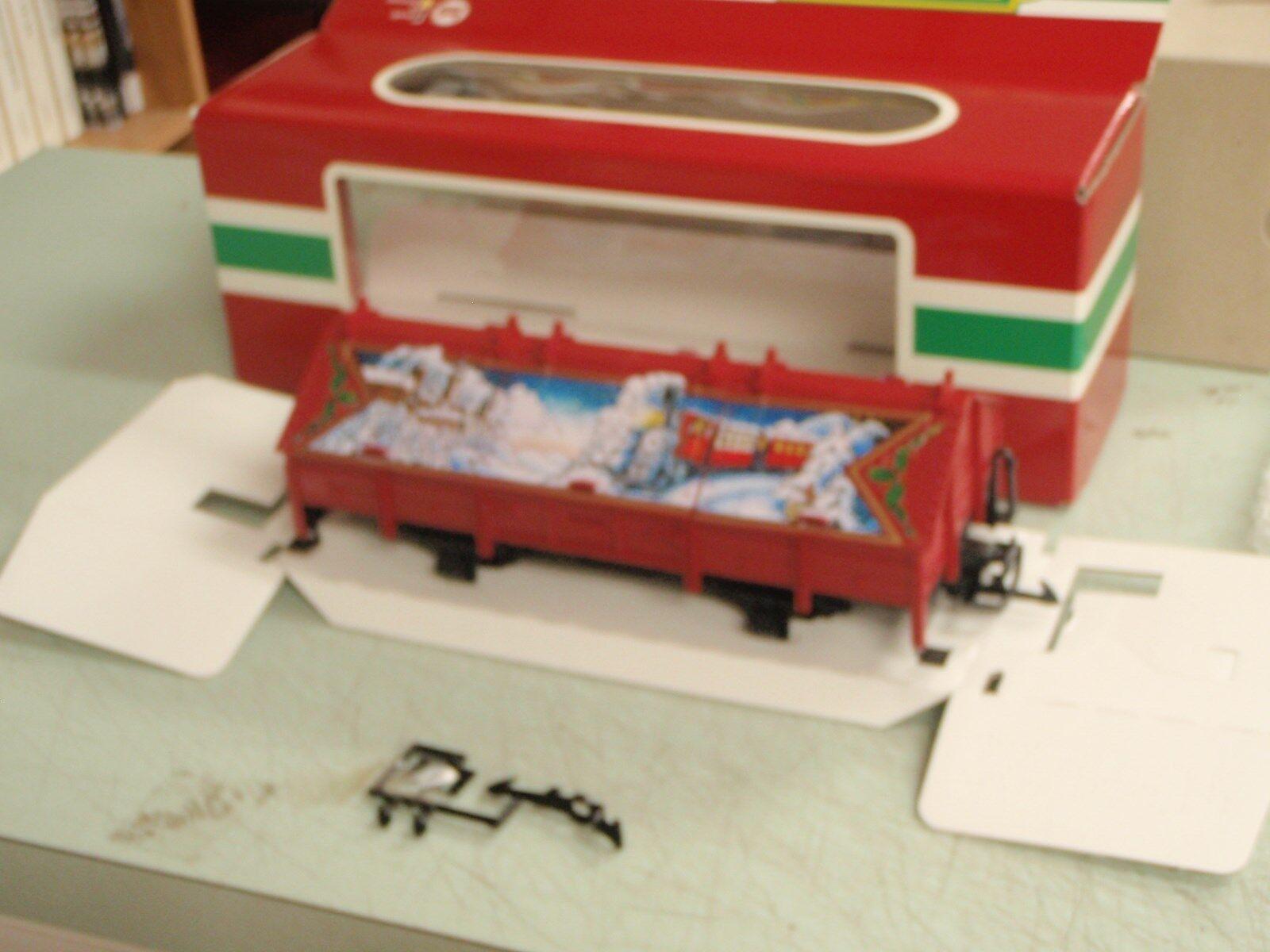 LGB Tren 45110 Cubiertos Navidad Góndola coche con escotillas Escala G En Caja Como Nuevo