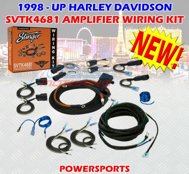 Stinger Svtk4681 Harley Davidson 2 4 Channel Universal Amplifier Wiring Kit 8ga