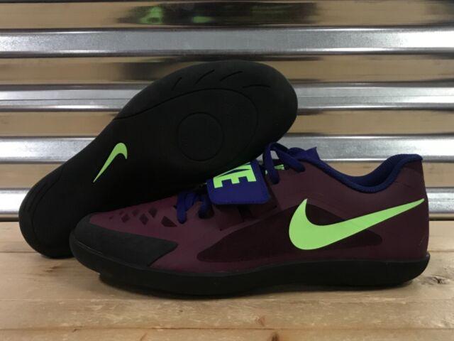 Nike Zoom Rival SD 2 Shot Put Discus Throw Purple Green Sample SZ ( 685134 600 )