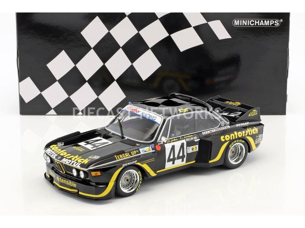Minichamps BMW 3.5 Csl 24h le Mans 1976 Justiciers Belin  44 1 18 Echelle de 438