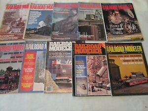 Railroad-Modeler-Trains-Magazine-1971-1976-10-Issues-1972-1973-1975-1976
