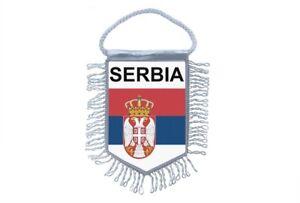 Mini banner flag pennant window mirror cars country banner serbia