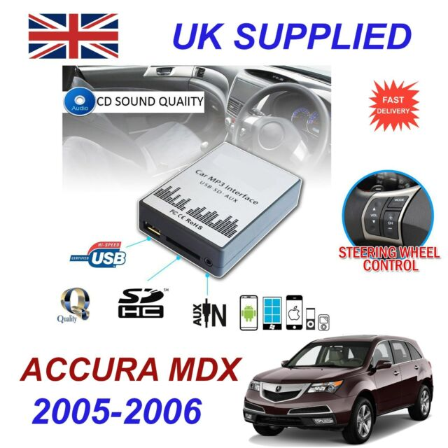 ACURA MDX 05-06 MP3 SD USB CD AUX Input Audio Adapter