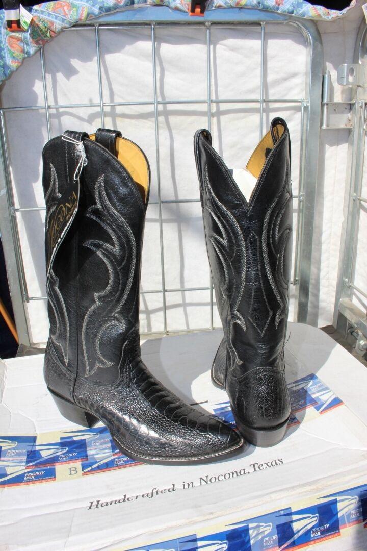 37-11 Brand new Nocona Ostrich  Damenschuhe Größe 7 AA western Stiefel