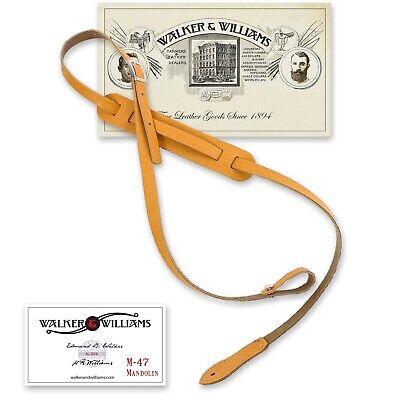 Walker /& Williams M-78 Soft Dark Brown Leather Mandolin Bouzouki or Uke Strap
