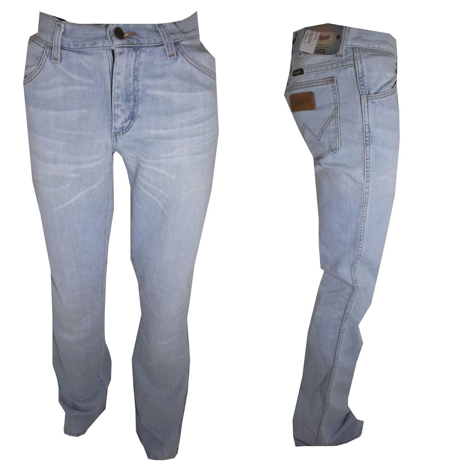 Jeans W28 Wrangler 29 Zampa Denim 30 Celeste Elefante b7yfg6