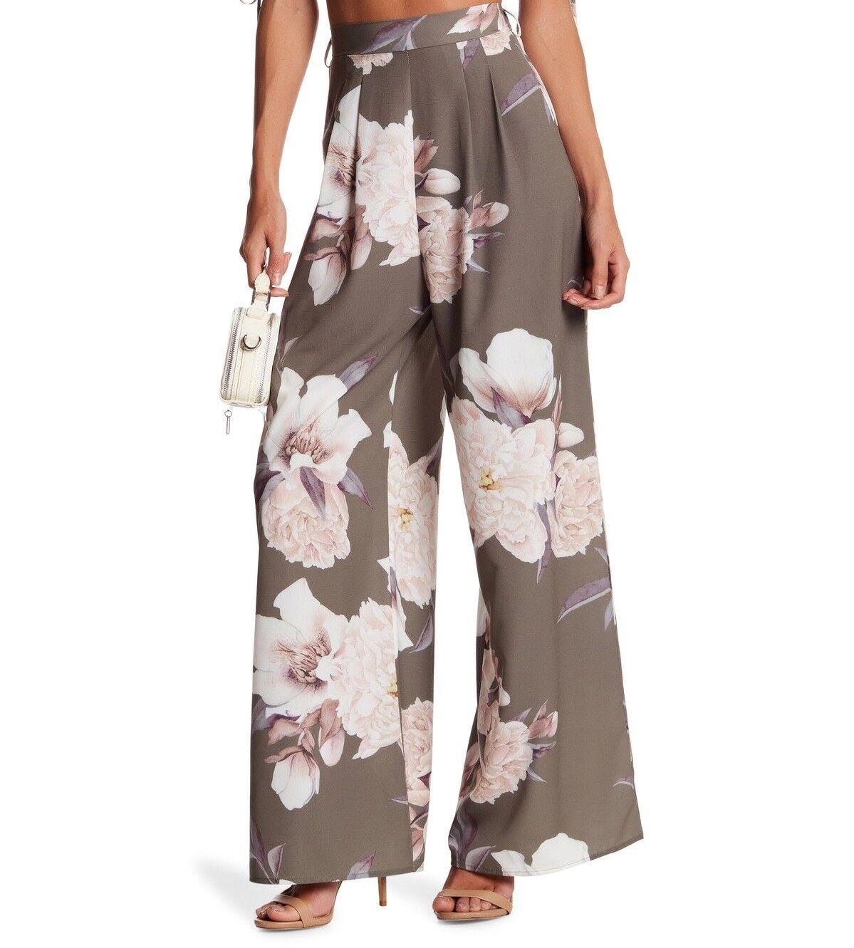 L'Atiste Floral Print  Wide Leg Pants (Size L)