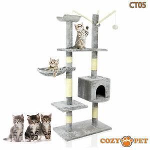 Cozy Pet Deluxe Cat Tree Sisal Scratching Post Quality Cat Trees - CT05-Grey 887074005007