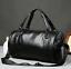 US-Men-039-s-Large-Travel-Duffle-Gym-PU-Leather-Roll-Luggage-Shoulder-Handbag-Bag thumbnail 1