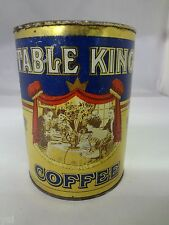 VINTAGE TABLE KING BRAND COFFEE TIN ADVERTISING COLLECTIBLE GRAPHIC  427-X