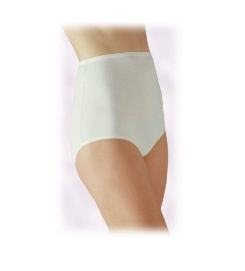 7b8bc9abdf36 Vanity Fair 15318 Perfectly Yours Tailored Cotton Brief Panties 10 Star  White