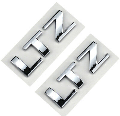 2x OEM Black LTZ Nameplates Emblems Badge GMC Chevrolet Cruze SILVERADO YU