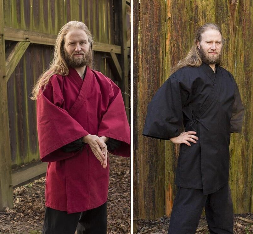 Traditional Japanese Kimono in Heavy Cotton for Costume, Re-enactment & LARP