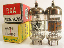 2 matched 1964 Heerlen Amperex/RCA 6AQ8 ECC85 tubes - New Old Stock/New In Boxes
